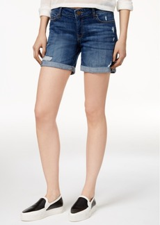 Dl 1961 Karlie Ripped Denim Boyfriend Shorts