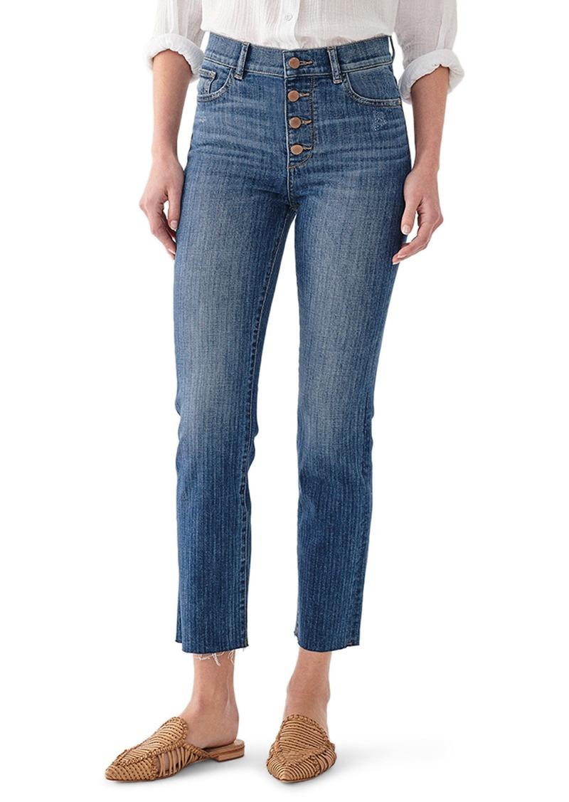 DL 1961 Mara Instasculpt High Waist Ankle Straight Leg Jeans (Bardot)