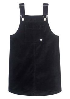 DL 1961 DL1961 Black Velveteen Pinafore Dress (Big Girl)