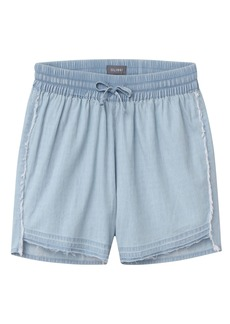 DL 1961 DL1961 Bleached Chambray Shorts (Toddler Girls & Little Girls)