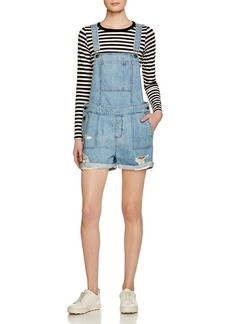 DL 1961 DL1961 Cara Denim Short Overalls in Campfire