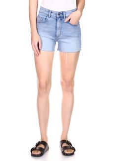 DL 1961 DL1961 Cecilia Classic Raw Hem High Waist Cutoff Denim Shorts (Vintage Lapis)