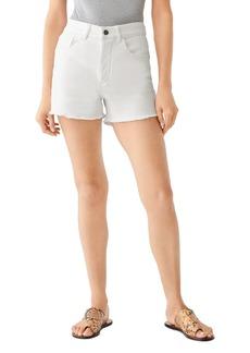 DL 1961 DL1961 Cecilia Frayed Denim Shorts in Puro