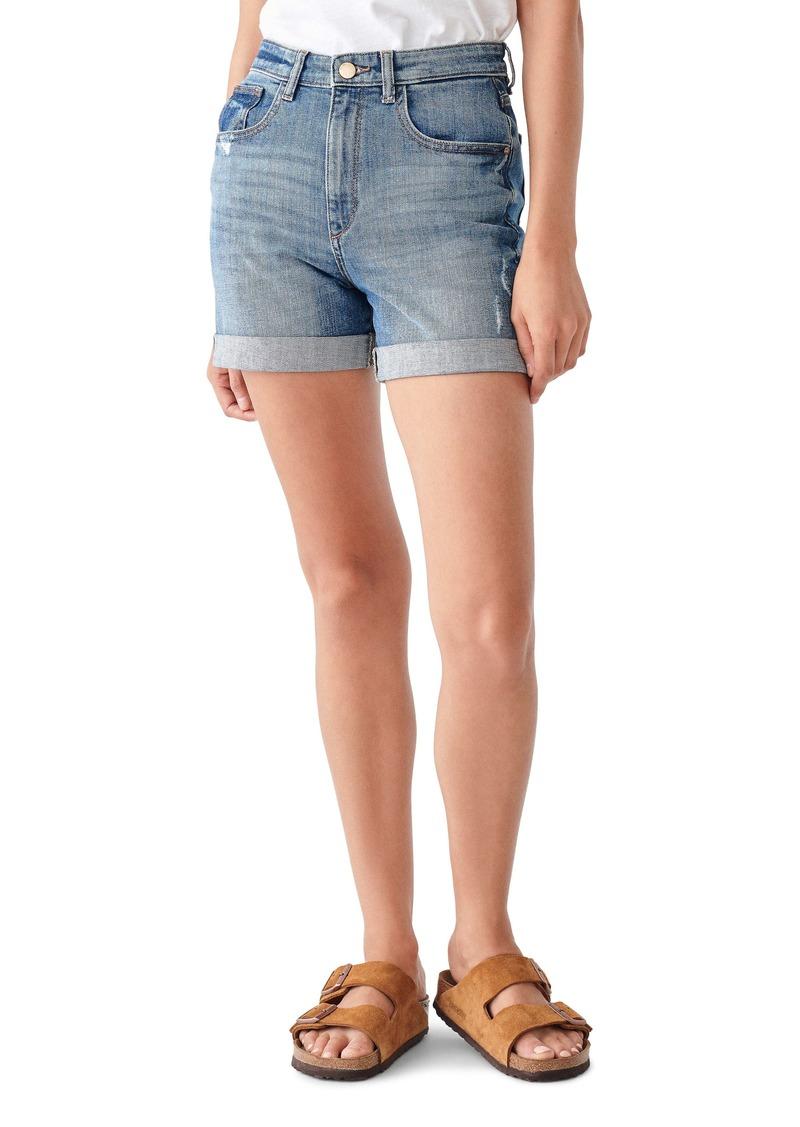 DL 1961 DL1961 Cecilia Roll Cuff Denim Shorts (Lambert)