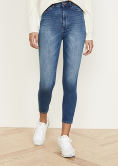 DL 1961 DL1961 Chrissy Cropped Ultra High Rise Skinny Jeans