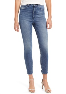 DL 1961 DL1961 Chrissy High Waist Raw Hem Ankle Skinny Jeans (Seville)
