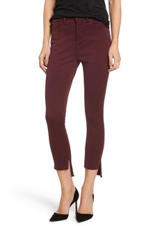 DL1961 Chrissy Trimstone High Waist Step Hem Skinny Jeans (Rouge Noir)