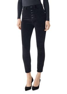 DL 1961 DL1961 Chrissy Ultra High Rise Velvet Skinny Ankle Jeans in Lost