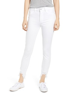 DL 1961 DL1961 Chrissy Ultra High Waist Raw Hem Skinny Jeans (Kern)