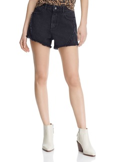 DL 1961 DL1961 Cleo High-Rise Denim Shorts in Feather