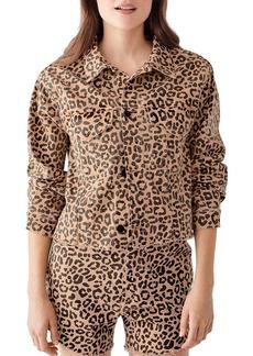 DL 1961 DL1961 Clyde Leopard Print Jacket