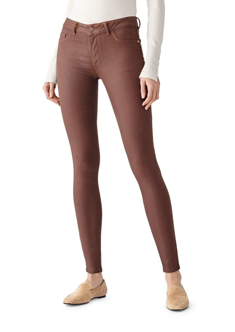 DL 1961 DL1961 Emma Coated Skinny Jeans in Pecan