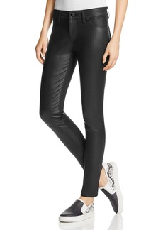 DL 1961 DL1961 Emma Leather Front Power Legging Jeans in Poseidon