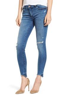 DL 1961 DL1961 Emma Raw Hem Low Rise Skinny Jeans (Baxter)