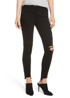 DL 1961 DL1961 Emma Ripped Low Rise Step Hem Skinny Jeans (Grimes)