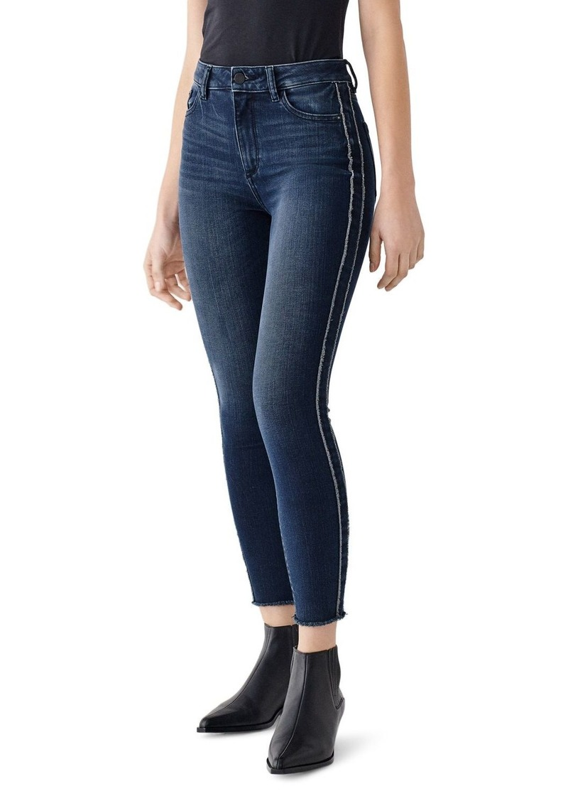 DL 1961 DL1961 Farrow Frayed Skinny Ankle Jeans in Hassler