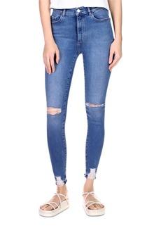 DL 1961 DL1961 Farrow Instasculpt Skinny Ankle Jeans in Rip Tide Distressed