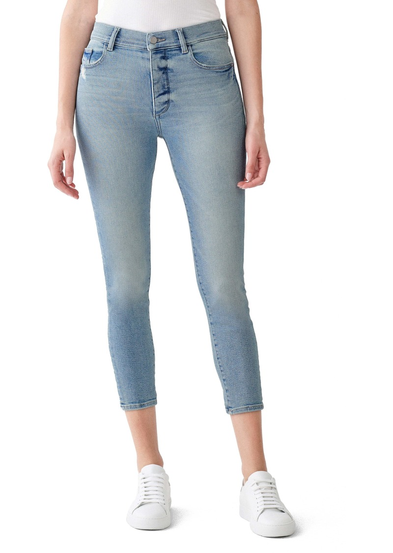 DL 1961 DL1961 Farrow Instaslim Distressed High Waist Crop Skinny Jeans (Sterling)