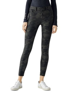 DL 1961 DL1961 Florence Coated Mid Rise Ankle Skinny Jeans in Carver