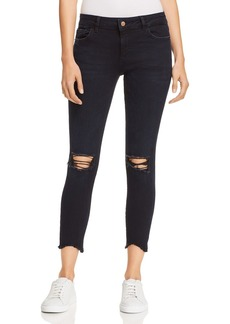 DL 1961 DL1961 Florence Crop Skinny Jeans in Blackstone