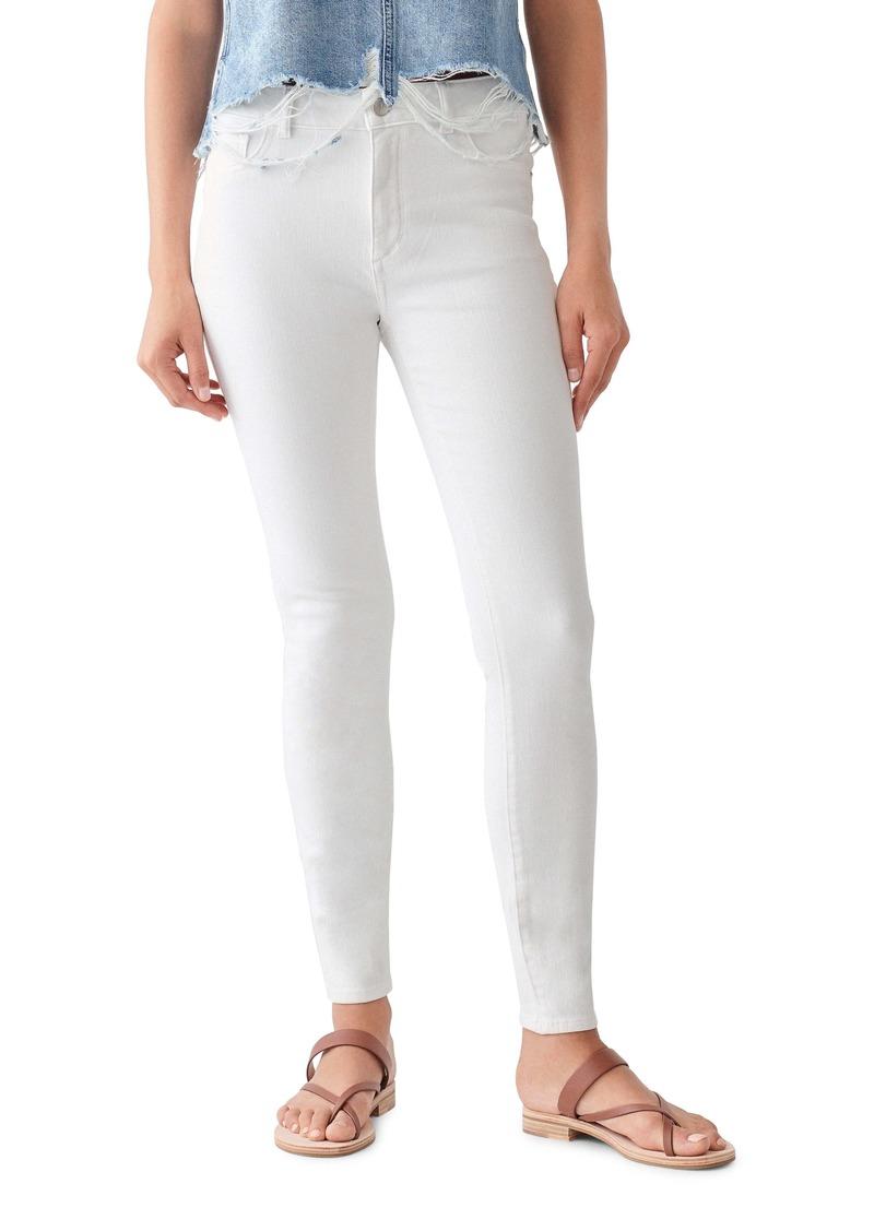 DL 1961 DL1961 Florence Instasculpt Ankle Skinny Jeans (Milk)