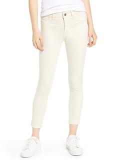 DL 1961 DL1961 Florence Instasculpt Crop Skinny Jeans (Ivory)