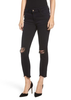 DL 1961 DL1961 Florence Instasculpt Ripped Crop Skinny Jeans (Blackstone)