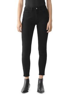 DL 1961 DL1961 Florence Mid Rise Ankle Skinny Jeans in Black