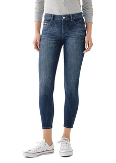 DL 1961 DL1961 Florence Mid-Rise Cropped Skinny Jeans in Trenton