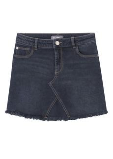 DL 1961 DL1961 Fray Hem Denim Miniskirt (Blaine) (Big Girl)