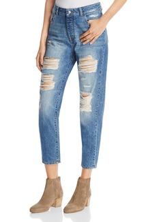 DL 1961 DL1961 Goldie High Rise Boyfriend Jeans in Shredded