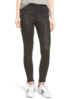 DL1961 Haven Coated Denim Leggings (Asphalt)