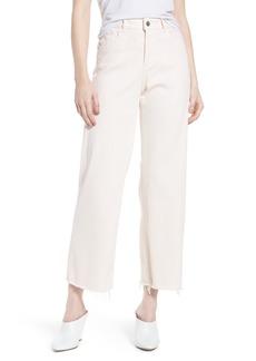 DL 1961 DL1961 Hepburn Ankle Wide Leg Jeans (Blush Pink)