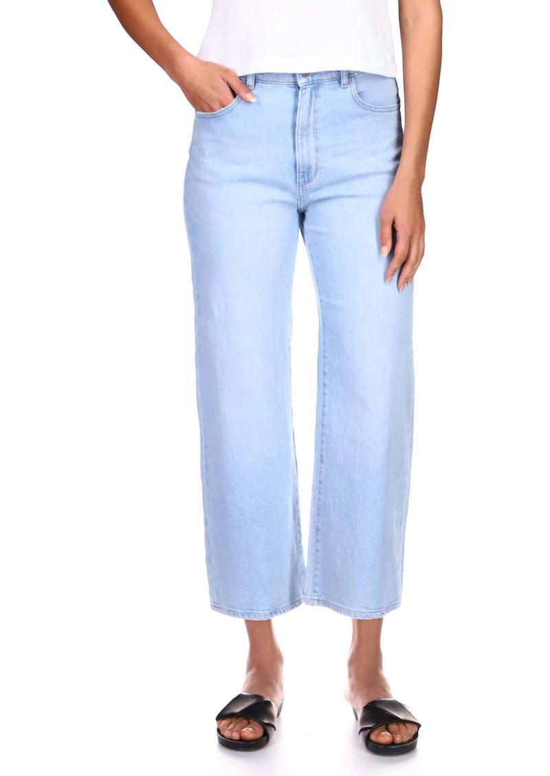 DL 1961 DL1961 Hepburn High Waist Crop Wide Leg Jeans (Baby Blue)