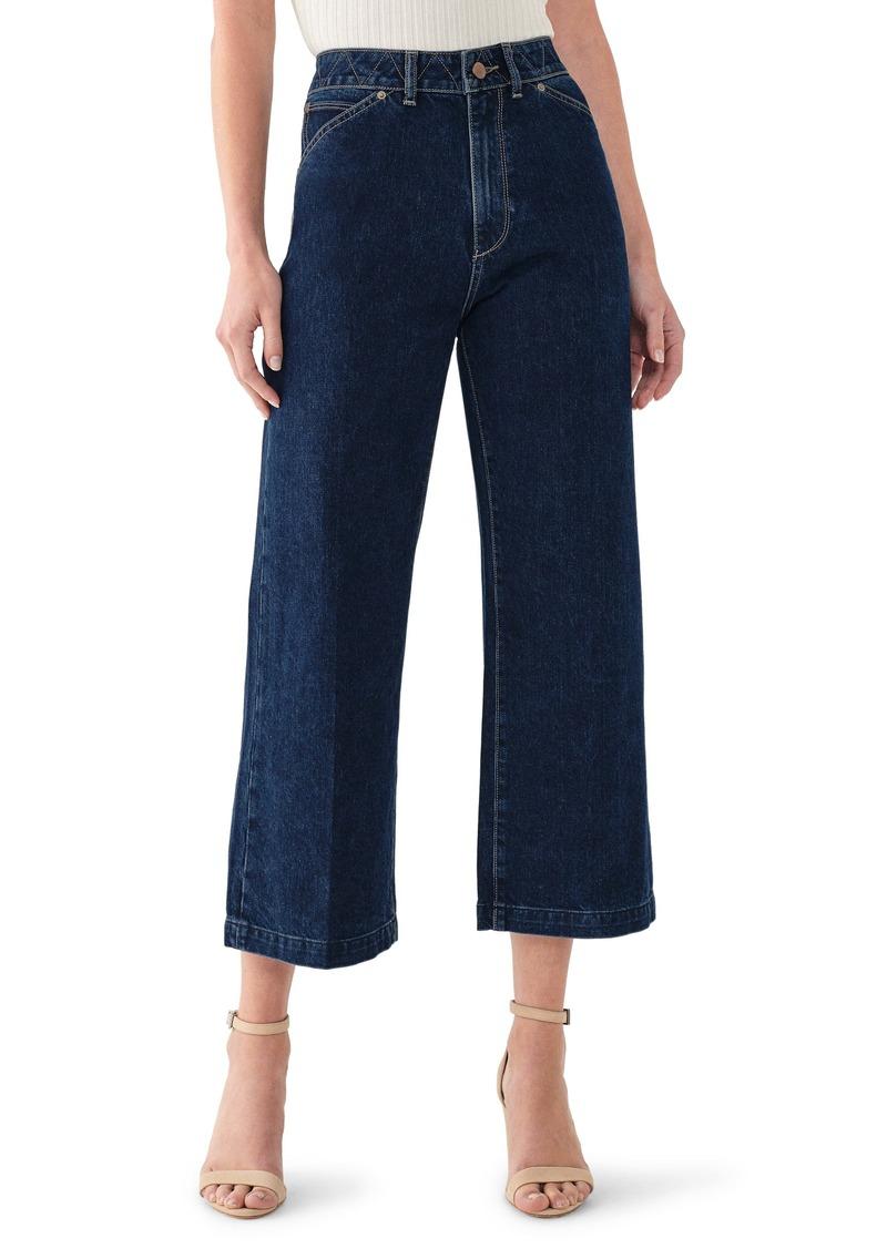 DL 1961 DL1961 Hepburn High Waist Crop Wide Leg Jeans (Flatland)
