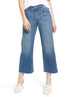 DL 1961 DL1961 Hepburn High Waist Frayed Wide Leg Jeans (Palmer)