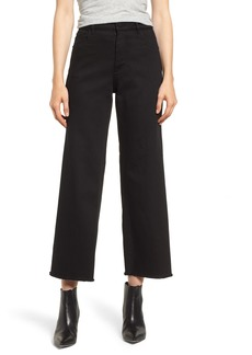 DL 1961 DL1961 Hepburn High Waist Raw Hem Wide Leg Jeans (Ashwell)