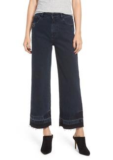 DL 1961 DL1961 Hepburn High Waist Release Hem Crop Wide Leg Jeans (Stoll)