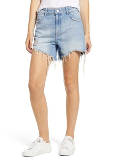 DL 1961 DL1961 Hepburn Ripped High Waist Denim Shorts (Rains)