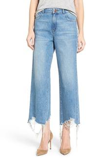 DL 1961 DL1961 High Rise Destroyed Wide Leg Jeans (Slate)