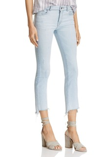 DL 1961 DL1961 Instasculpt Ankle Straight Step-Hem Jeans in White Hot - 100% Exclusive