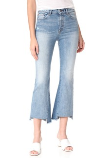 DL 1961 DL1961 Jackie Trimtone Cropped Flare Jeans