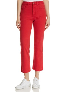 DL 1961 DL1961 Jerry High Rise Vintage Straight Jeans in Outlaw Red