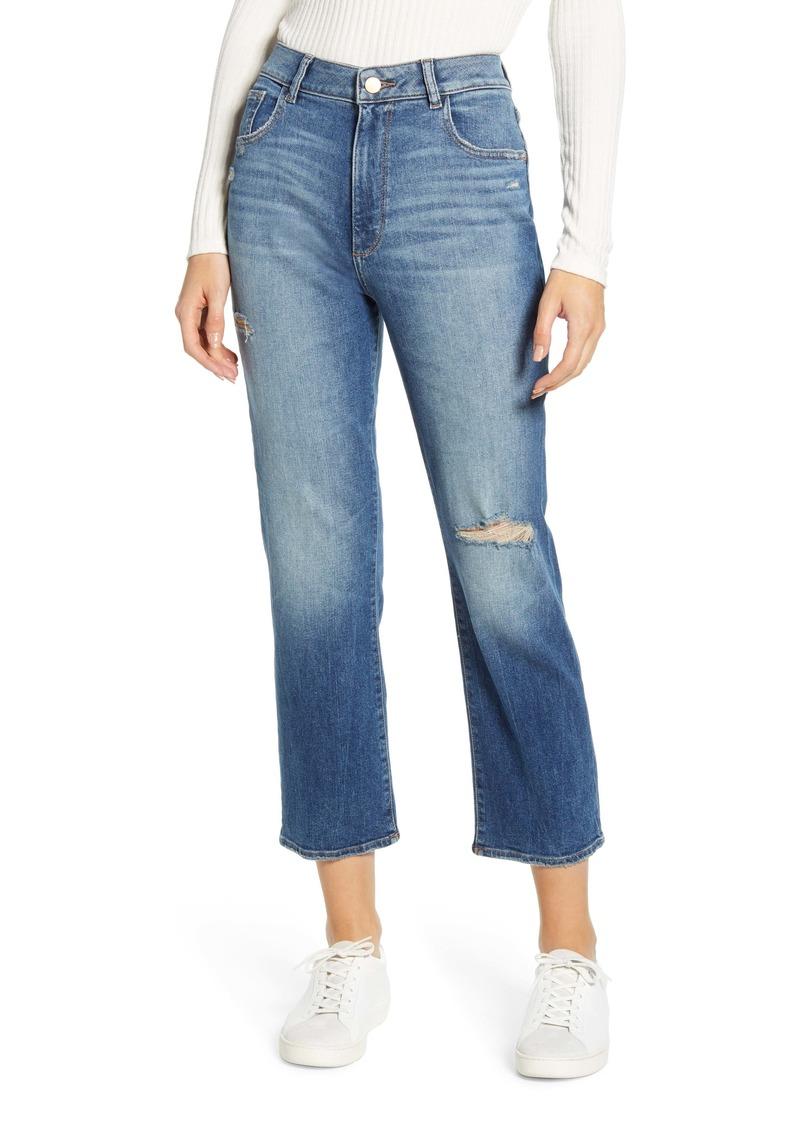 DL 1961 DL1961 Jerry High Waist Ankle Straight Leg Jeans (Edmund)