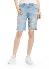DL 1961 DL1961 Jerry Vintage Ripped High Waist Bermuda Shorts (Gabriel)