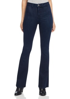 DL 1961 DL1961 Jessica Alba No. 5 High Rise Flare Jeans in Splintered
