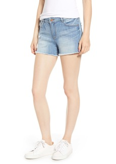 DL 1961 DL1961 Karlie Cutoff Denim Boyfriend Shorts (Red Rock)