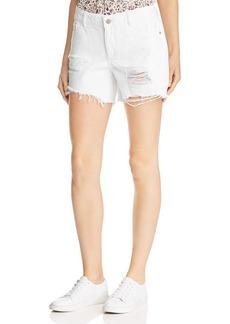 DL 1961 DL1961 Karlie Shredded Boyfriend Denim Shorts in Howard