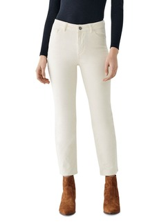 DL 1961 DL1961 Mara Ankle High Rise Corduroy Jeans in Meringue