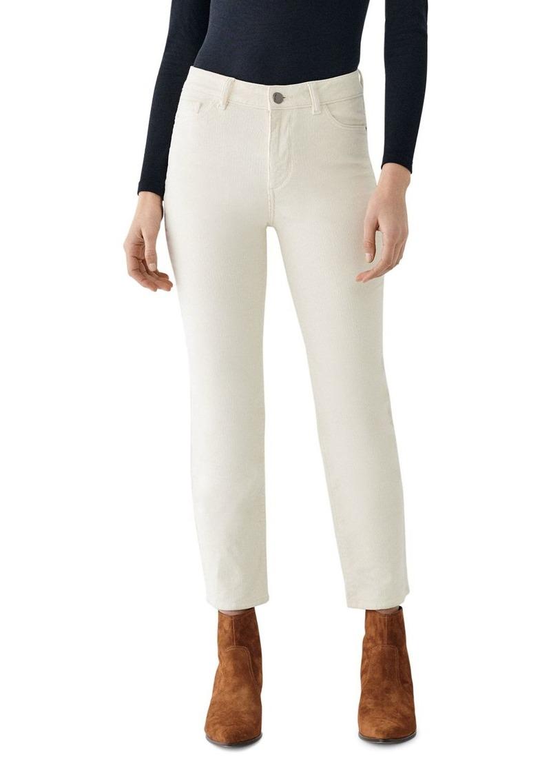 DL 1961 DL1961 Mara Ankle High Rise Corduroy Jeans in Meringue